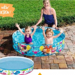 Bestway Sea Swimming Pool Without Air 4 feet * 10 inches- 55028
